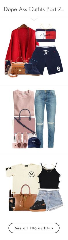 Dope Ass Outfits Part 7... by slickpoet ❤ liked on Polyvore featuring Chicnova Fashion, Tommy Hilfiger, Topshop, Octobers Very Own, MCM, UGG Australia, Gorjana, Sterling Essentials, Charlotte Tilbury and Sara Weinstock