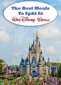 The Best Meals to Split At Walt Disney World