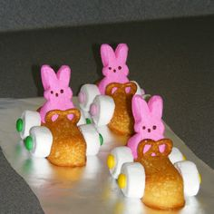 Easter Bunny Racers @keyingredient #cake