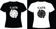 """Cats Destroy Power R$ 20,00 + frete Todas as cores Personalizamos e estampamos a sua ideia: imagem, frase ou logo preferido. Arte final. Telas sob encomenda. Estampas de/em camisas masculinas e femininas (e outros materiais). Fornecemos as camisas ou estampamos a sua própria. Envie a sua ideia ou escolha uma das """"nossas"""".... Blog: http://knupsilk.blogspot.com.br/ Pagina facebook: https://www.facebook.com/pages/KnupSilk-EstampariaSerigrafia/827832813899935?pnref=lhc…"""