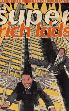 Comic Books Art, Book Art, Frank Ocean Wallpaper, Frank Ocean Poster, Poster Wall, Poster Prints, Super Rich Kids, Dorm Posters, Arte Cyberpunk