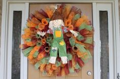 Deco mesh wreath...so versatile!!  Can do Christmas colors and a snowman, Valentines and hearts, etc...