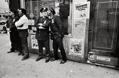 Mary Ellen Mark, Policemen in Harlem during Pope John Paul II's visit, 1979.