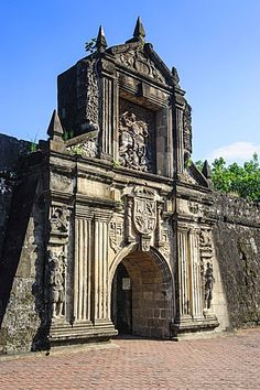 Entrance to the old Fort Santiago Intramuros Manila Luzon Philippines Southeast Asia Asia Philippines Culture, Manila Philippines, Philippines Travel, Manila Luzon, Intramuros, Places Around The World, Around The Worlds, Fort Santiago, Philippine Architecture