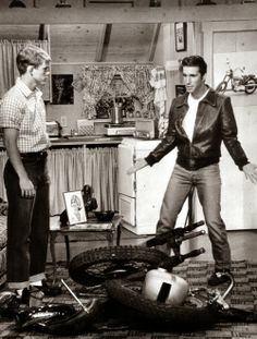The Fonz with a bike troubles.....