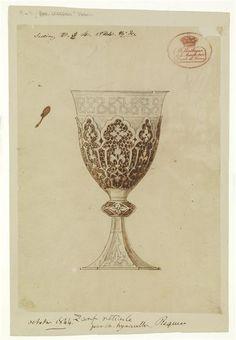 """Projet de tasse à la turque dite """"Zarph"""" réticulée Régnier Hyacinthe (1803-1870)"""