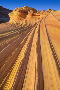 ✮ The Wave - Swirled sandstone Coyote Buttes - Paria Canyon -Vermillion Cliffs Wilderness Area, Arizona