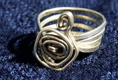 Rustic Hammered Wire Wrap Ring by RedBoatStudio on Etsy, $15.00