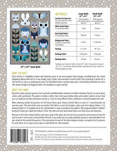 by Elizabeth Hartman Fancy Forest is a delightful sampler quilt featuring some of Elizabeth Hartman's most popular blocks, including Fancy Fox, Hazel Hedgehog, Bunny, Allie Owl (in a smaller size), Th