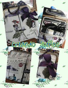 Anhelos de Fantasía: Os traemos un bolso de estilo vintage, con dibujos...
