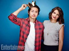 Steven Yeun and Lauren Cohan from The Walking Dead