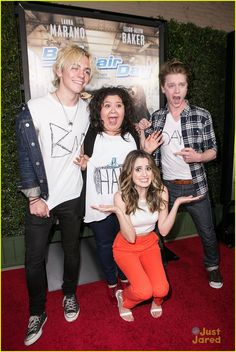 Ross Lynch, Raini Rodriguez & Calum Worthy Have The Worst 'Bad Hair Day' For Laura Marano's Premiere