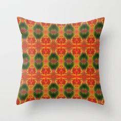 SPIRITUAL_in orange Throw Pillow by MiuRiO Decor - $20.00
