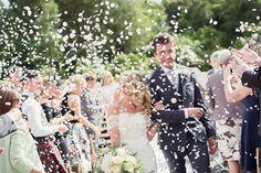 Confetti Throw Romantic Metallic Blush Wedding
