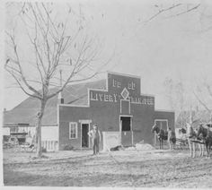 Sturdevant Livery Stable, 1900s 413 Wilcoxs Street Castle Rock, CO:: Douglas County History Photograph Collection