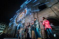 #Soleilsdhiver : Place du Ralliement étaient inaugurés les éclairages du centre-ville, avec notamment un décor inédit sur la façade du Grand-Théâtre. (Photo: Thierry Bonnet/Ville d'Angers)