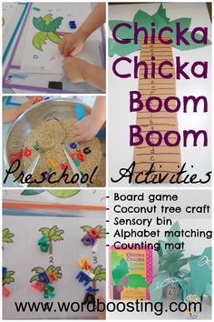 Chicka Chicka Boom Boom Preschool Activities from Word Boosting