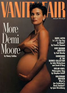 #DemiMoore, #cover, #VanityFair, #pregnant, #fashion, #magazine