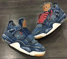 Levis x Air Jordan 4 Retro Distressed Denim (jeans déchiré) (4)