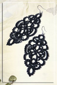 Hey, I found this really awesome Etsy listing at https://www.etsy.com/listing/200899785/tatted-earrings-gothic-earrings-lace