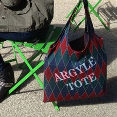 Argyle Tote Bag from Lois Eastlund for $30.00