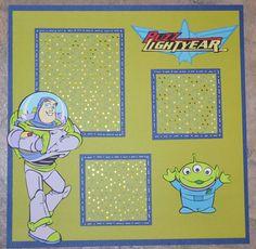 Disney Toy Story Buzz Lightyear 12x12 Premade Scrapbook Page