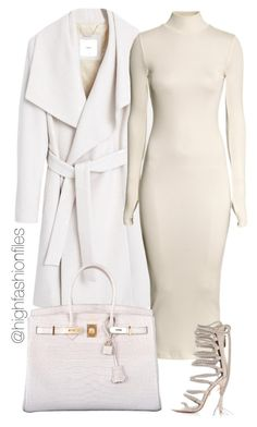 """Untitled #2015"" by highfashionfiles ❤ liked on Polyvore featuring MANGO, H&M and Hermès"