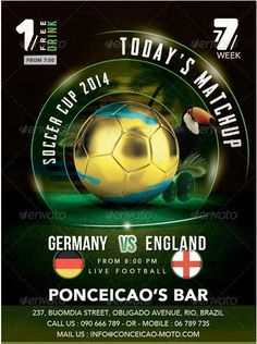 Buy Flyer Soccer Cup Match Of The Day In Brazil Bar By On GraphicRiver Is A For Special Evening