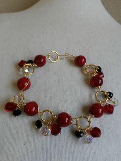 Pulseras Diy Jewelry Rings, Fashion Jewelry Necklaces, Bead Jewellery, Custom Jewelry, Jewelry Art, Jewelry Bracelets, Jewelry Making, Handmade Beaded Jewelry, Gemstone Bracelets