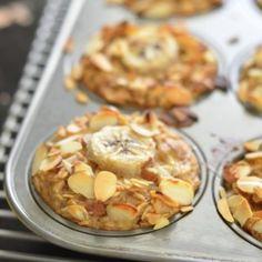 Banana Almond Baked Oatmeal Cups (Vegan)