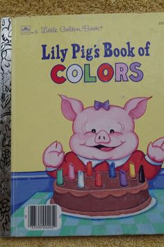 LILY PIG S BOOK OF COLORS LITTLE GOLDEN BOOK 1987 VINTAGE CHILDREN BOOK