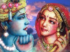 "Meera- The Kaliyug& Radha ""Mere to Giridhar Gopal dusro na koi"" I have only my Giridhar Gopal(Krishna) and no one else& Radha Radha, Radha Krishna Love, Lord Krishna, Shiva, Krishna Leela, Bhagavad Gita, Tantra, Arte Krishna, Free Hand Rangoli"