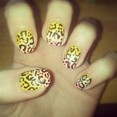 #NailedbyHannah Wah inspired leopard fade