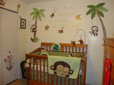 Really like the monkey theme nursery
