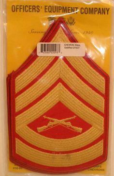 USMC US Marine Corps Gunnery Sergeant Male Dress Blues Strips Chevrons Packaged Chevrons, Blue Chevron, Marine Costume, Marine Tattoo, Once A Marine, Military Ranks, Chain Of Command, Velcro Patches, Us Marine Corps
