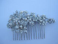 wedding hair comb accessorybridal hair piece wedding by Amoretto, $38.00