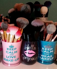 Glitter Makeup brush holder makeup holder by Sassy2ClassyBoutique