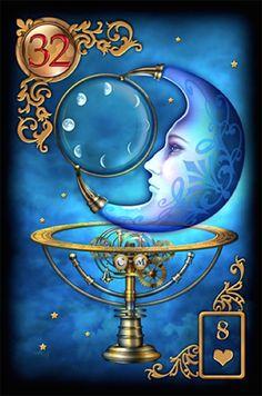 32 De Maan - Kom eerlijk uit voor je eigen wensen en verlangens. Werk aan je dromen.