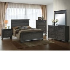 Home Source Bedroom Furniture Bed/Dresser/Mirror/Nightstand/Chest