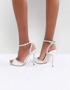 86a994ec59052 ASOS HITCHED Bridal Embellished Heeled Sandals  ad  weddingshoes   weddingideas  weddinginspiration Bridal Sandals