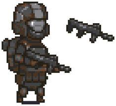 Halo ODST (Orbital Drop Shock Trooper) Perhaps you've all forgotten about me. Hopefully some of you remember me. 2d Game Art, Video Game Art, Odst Halo, Cool Pixel Art, 8 Bit Art, Isometric Art, Pixel Art Games, Pixel Design, Cool Robots