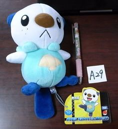 Pokemon Plush Doll Oshawott Ottaro Moustillon 수댕이 shopper plastic bag With gifts #Pokemon