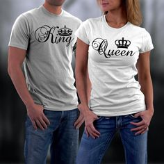 Couples Tshirts King and Queen Shirts King and by styleURshirt