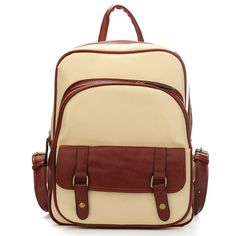 Sale 28% (30.8$) - Vintage Women PU Leather Backpack Satchel Shoulder School Bag