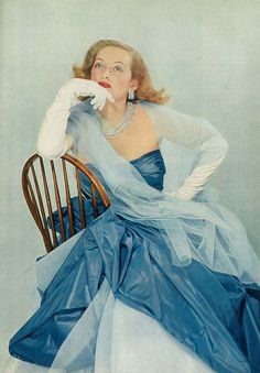 Bette Davis, featured in the May Vogue issue, 1951.