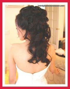 bridal hairstyles half up half down with veil