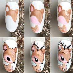 Nail Designs ✰A Fashion Star✰ Diy Christmas Nail Art, Christmas Nail Art Designs, Best Nail Art Designs, Simple Nail Designs, Manicure Nail Designs, Nail Manicure, Vacation Nail Art, Fruit Nail Art, Animal Nail Art