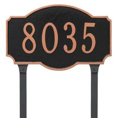Montague Metal Products One Line Address Plaque Sign Finish: Aged Bronze/Gold