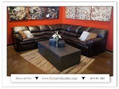 For three decades, Creative Leather has been committed to handcrafting the finest quality custom leather furniture in the Southwest. Leather Furniture, Custom Furniture, Sofa, Couch, Custom Leather, Chair And Ottoman, West Coast, Love Seat, Relax