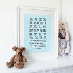 Personalised New Baby, Christening Keepsake Print £19.99